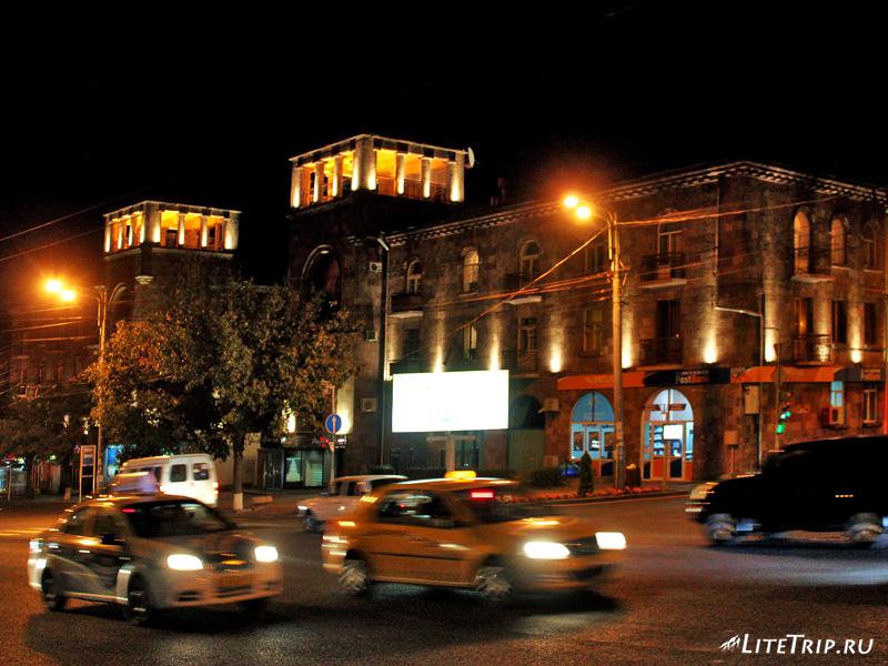 Улицы вечернего Еревана