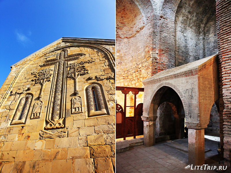 Храм Христа Спасителя в замке Ананури