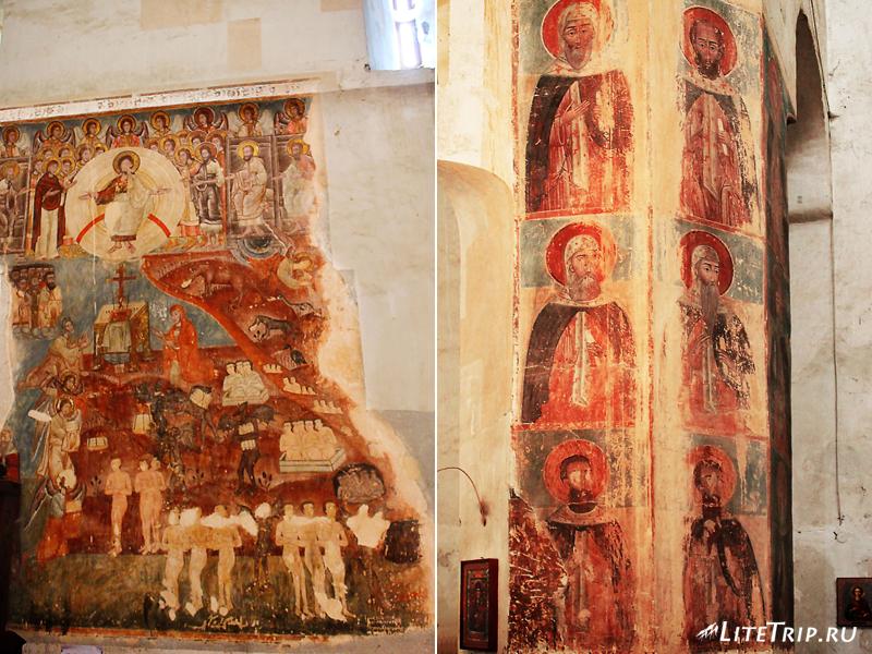 Храм Успения с фресками в замке Ананури