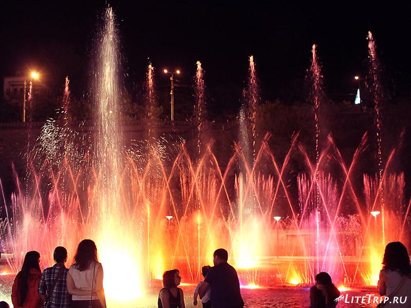 Парк Рике в Тбилиси, фонтан