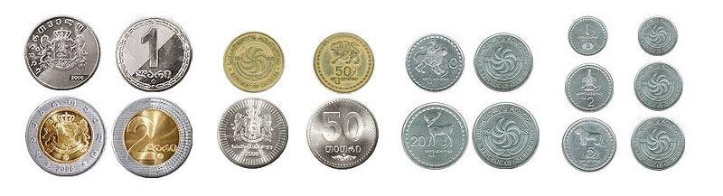 Самостоятельный отдых в Грузии. Валюта. Монеты.