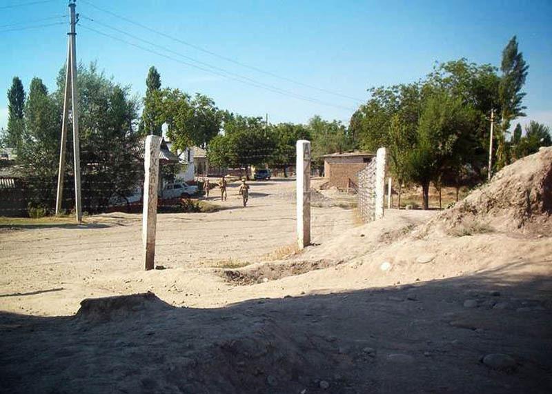 Через границу Таджикистан - Киргизия. Забор.