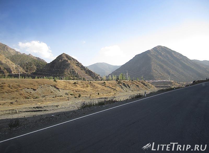 Через границу Таджикистан - Киргизия.