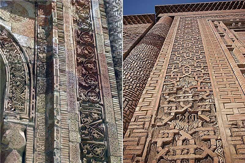Киргизия. Узген. Мавзолей династии Караханидов - орнамент.