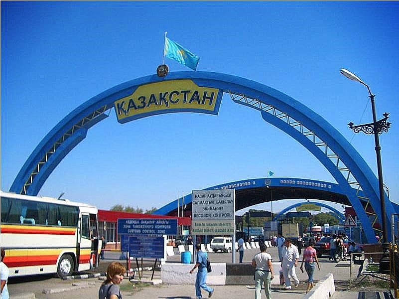 Пересечение границы Киргизия - Казахстан.