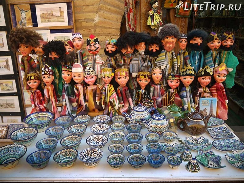 Узбекистан. Хива. Ичан-Кала - сувениры.