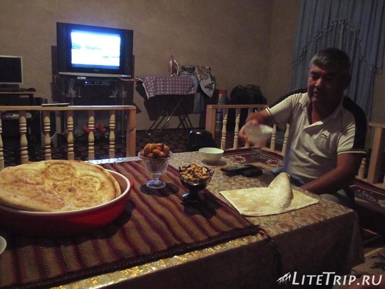 Автостопом по Узбекистану. Ужин в гостях.