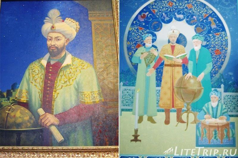 Узбекистан. Самарканд. Обсерватория Улугбека - фрески.