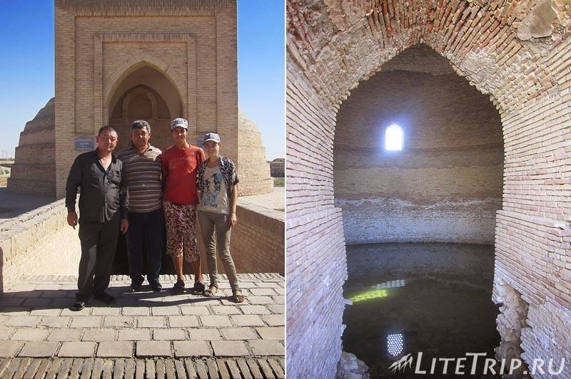 Узбекистан. Сардоба Малик - спуск к воде.