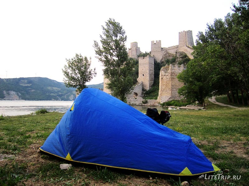Сербия. Голубацкая крепость - наша палатка.