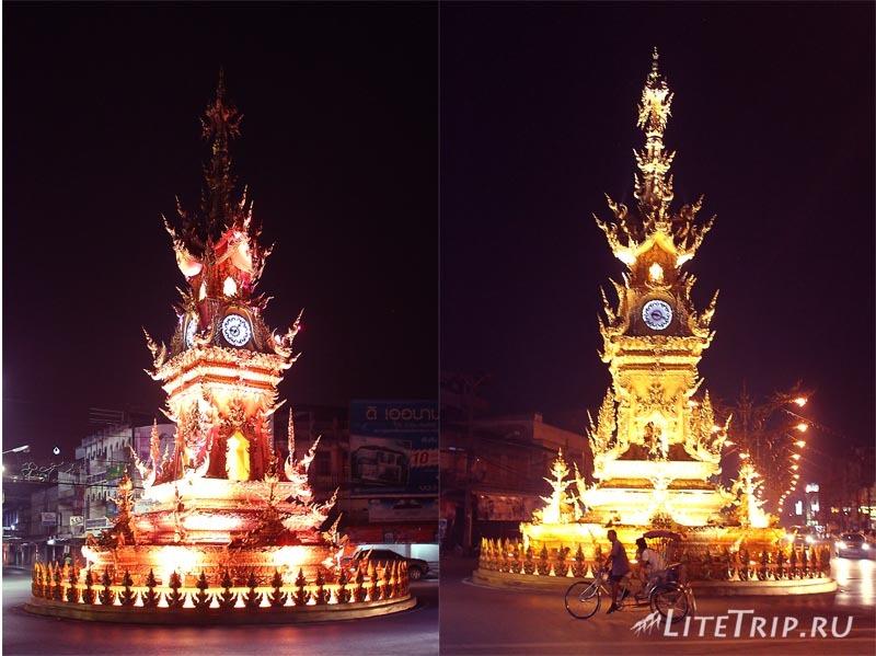 Чианг Рай. Поющие часы на площади.