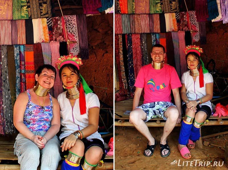 Племена длинношеих в Чианг Рае. Примеряем кольца.