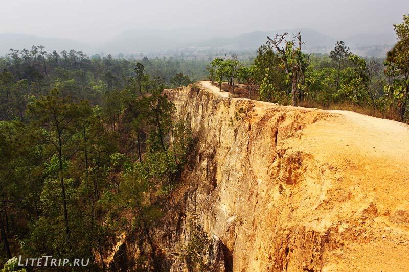 Каньон в Пае (Pai Canyon). Обрыв.