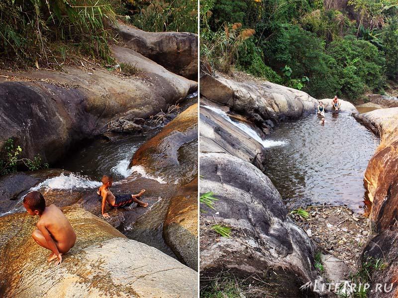 Пай. Водопад Мо Паенг (Mo Paeng Waterfall) с водяными горками