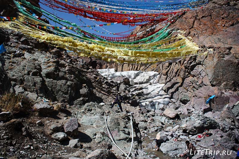 Тибет - Дарчен. Ледяная река.