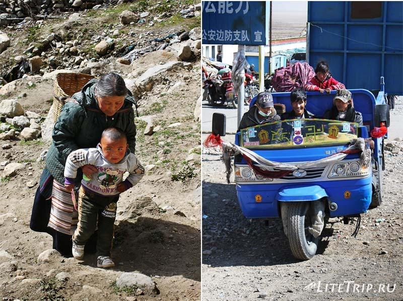 Тибет - Дарчен. Местные жители.