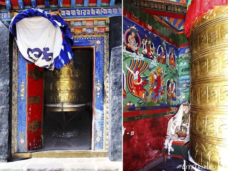 Тибет. Монастырь Гьяндрак под Кайласом. Молитвенный барабан.