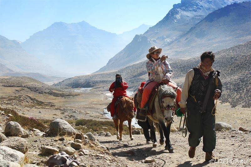 Тибет. Внешняя кора вокруг Кайласа. На лошадях