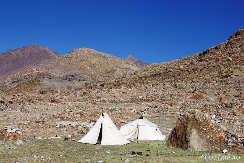 Тибет. Внешняя кора вокруг Кайласа. Чайные палатки