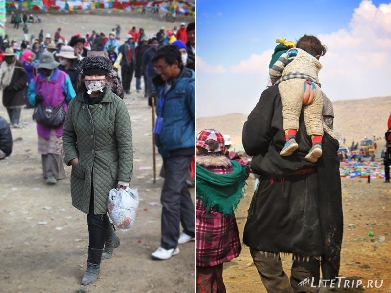 Тибет. Праздник Сага-Дава - люди.