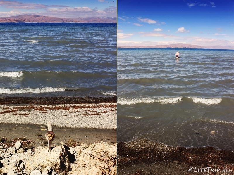 "Тибет. Купание в ""мертвых"" водах озера Ракшас-тал."