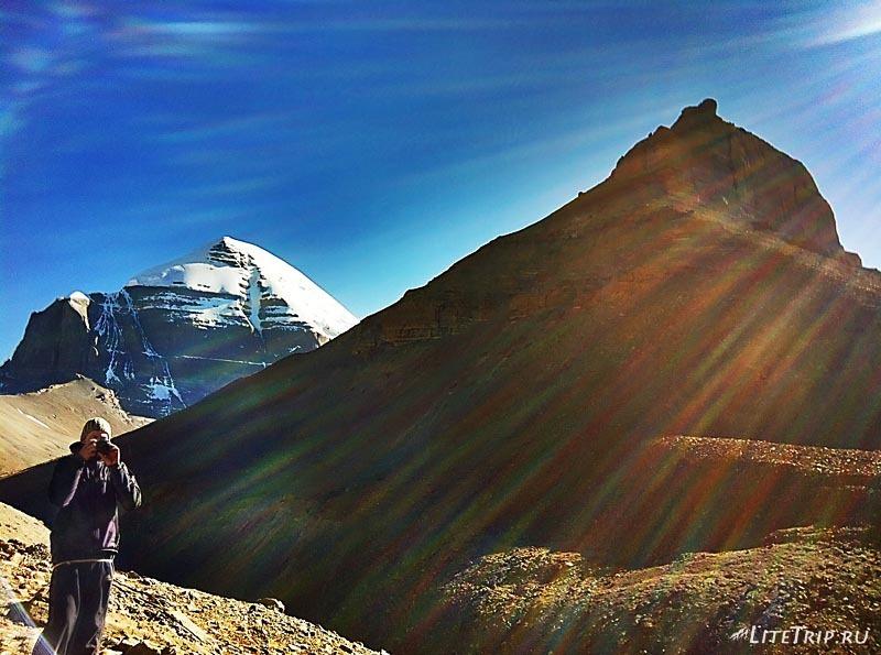 Тибет. Внутренняя кора - иду обратно и фотографирую.