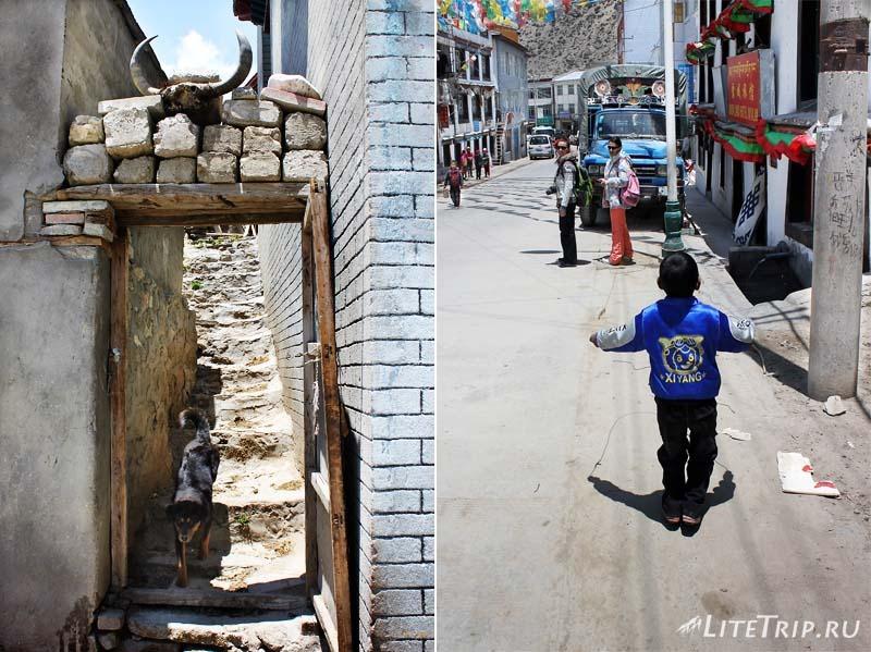 Тибет. Прогулка по городу Ньялам.
