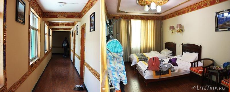 Тибет. Отель Nyalam - комнаты.