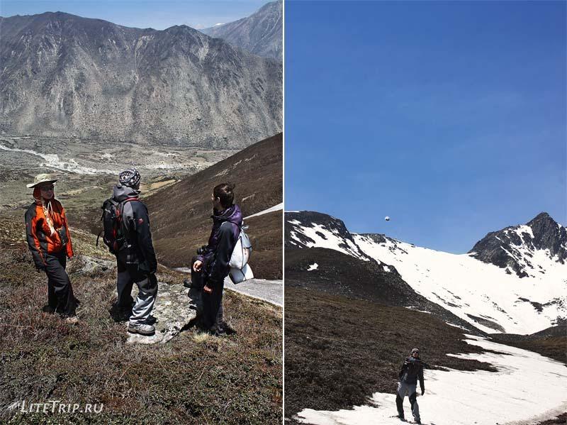 Тибет-Ньялам. Играем в снежки с оставшимися ребятами.