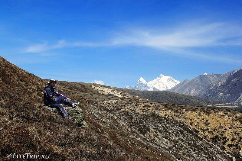 Тибет - Ньялам. Включение в местность.